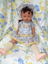 ANTIQUE COMPOSITION DOLL LOUD WORKING MAMA ORIGINAL CLOTHES RARE ENGLAND MARK