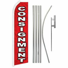 Consignment Advertising Super Flag Amp Pole Kit
