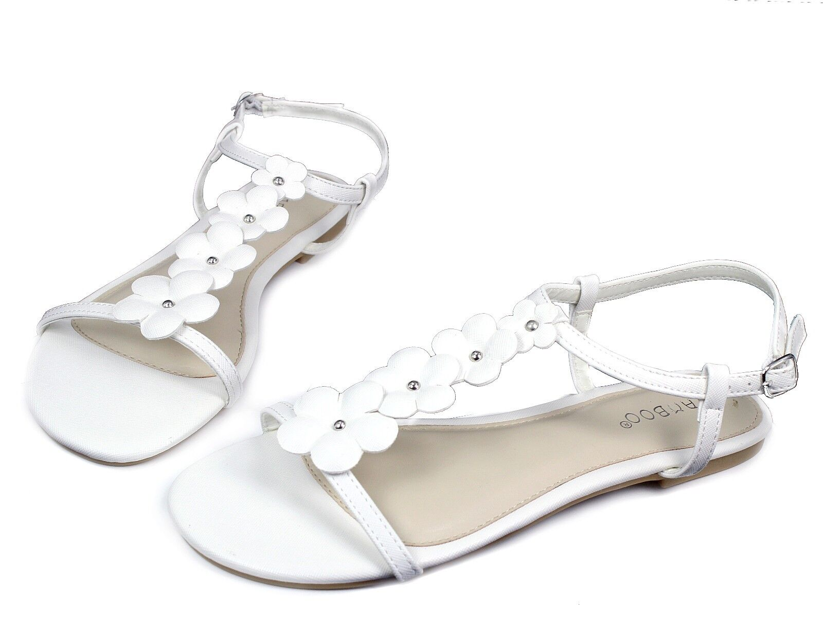Gentlemen/Ladies Buckle CALEB-10 New Flats Sandals Buckle Gentlemen/Ladies Gladiator Party Beach Women Shoes White 7 quality Optimal price Beautiful and charming GB648 a00688