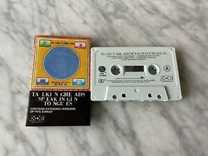 Talking Heads Speaking In Tongues CASSETTE Tape 1983 Sire Burning Down The House