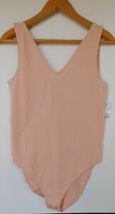 NWT-Gap-Women-039-s-Fitted-V-Neck-Pink-Tank-Top-Bodysuit-Sizes-S-M-L-2XL-New