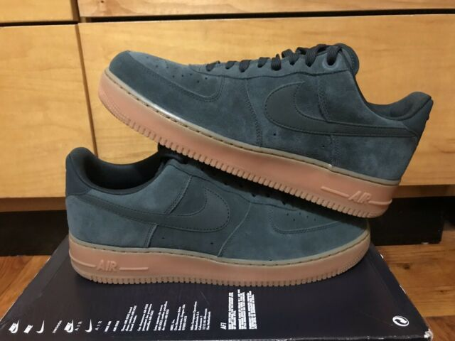 Nike Air Force 1 Premium Suede Mens Size 12 Shoes Gum Green AA1117 300 Rare