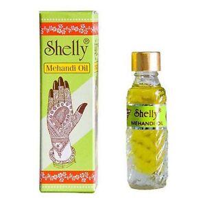 Details about 2 x Shelly Mehandi Henna Oil 6ml for Brighter Darkening Heena