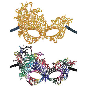 Elegant Venetian Glitter Costume Masquerade Eye Mask Halloween Party 3 Colors