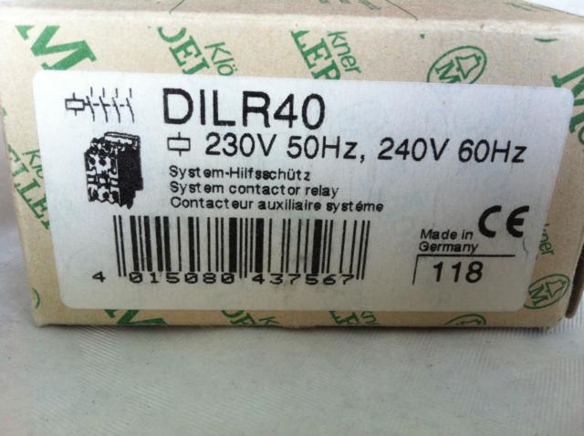 Moeller Hilfs-Schütz DILR 40  24V//50Hz//AC NEU,OVP,DIL R40 DILR40,4 Schließer