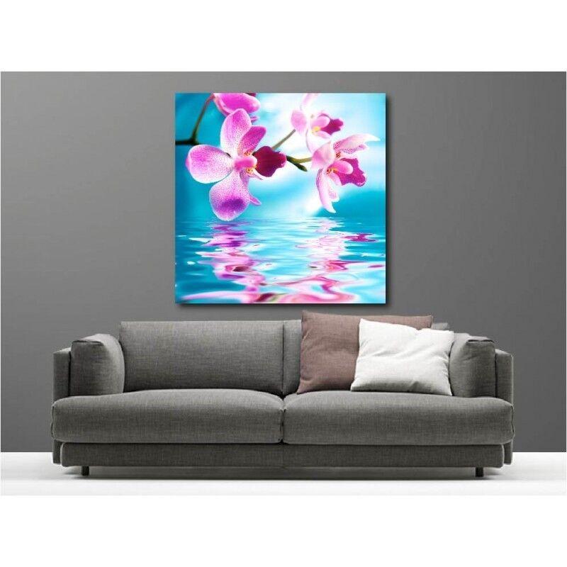 Cuadro Tela Decoración Orquídea 59577049