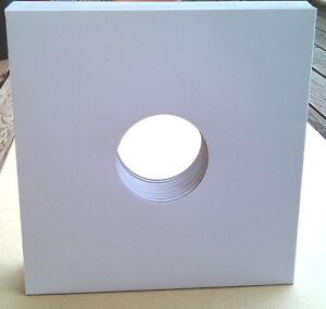 10x-Vinyl-Cover-SLEEVE-Doppelloch-White-Weiss-fuer-Schallplatten-ohne-Innenhuelle