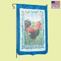 Flag Blue Nylon Rooster 29 X 43 No Pole | Renovator's Supply on sale