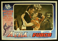 CINEMA-fotobusta ALBA DI FUOCO calhoun,laurie,brian,hughes,nicol,SHERMAN