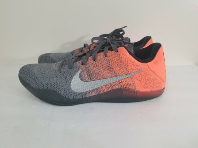 new products f4d8f e983e Nike Kobe XI 11 Elite Low Size 15 Easter Grey Mango Black Orange 822675 078