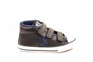 c6430a9cda7b70 Converse Junior Star Player 3V Mid 654317C Sneakers Black RRP £64 ...