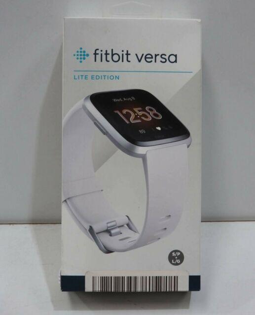 Fitbit Versa Lite Edition Smart Watch - White Silver Aluminum