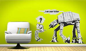 Banksy-stile-Star-Wars-sono-tuo-padre-di-ADESIVI-MURALI-VINILE-ARTE-Decalcomania-Trasferimento