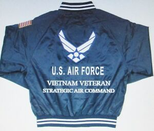 STRATEGIC-AIR-COMMAND-VIETNAM-VETERAN-AIR-FORCE-EMBROIDERED-2-SIDED-SATIN-JACKET