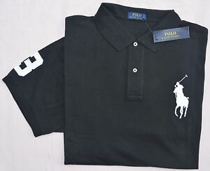 723a5525768 Neuf TAILLE L Polo Ralph Lauren Hommes Grand Poney Noir Classic Fit ...