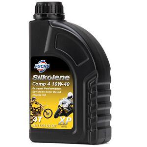 Silkolene-Comp-4-10w-40-XP-Ester-basado-en-Semi-Sintetico-Aceite-De-Motor-De-Bicicleta-1-litros