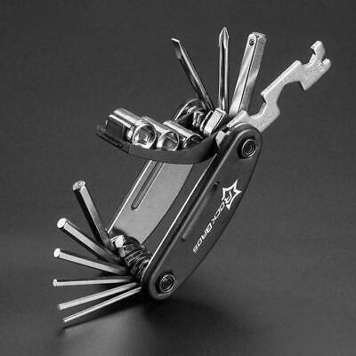 RockBros Black Bike Repair Tool Bike Pocket Multi Function Folding Tool 16 in 1
