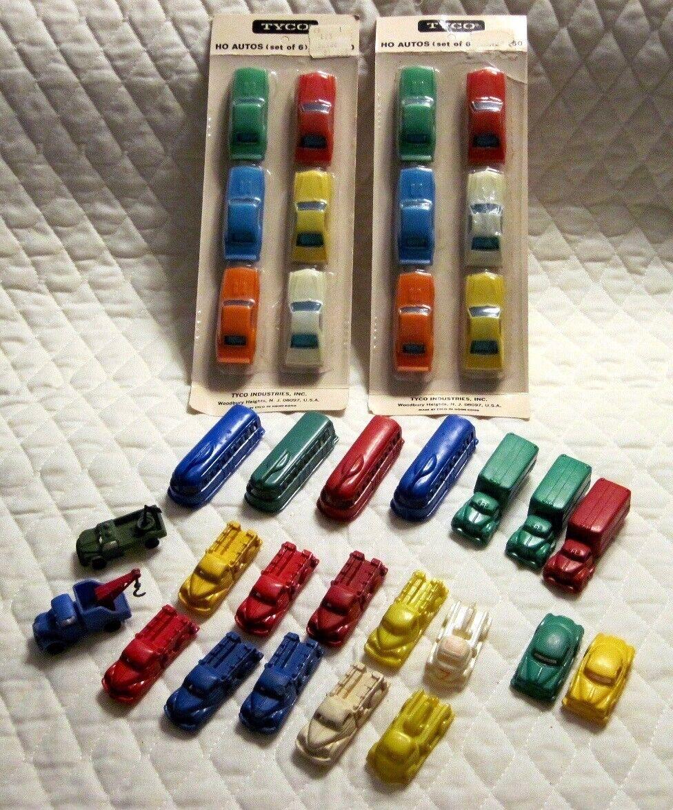 colores increíbles Lote de 33 Vintage Tyco Ho Scale Scale Scale Autos Camiones & Autobuses Nuevos Y Usados  oferta especial