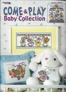 Come-amp-Play-Baby-Collection-in-Cross-Stitch-Leisure-Arts-3259-2001-Lg-30-Pages