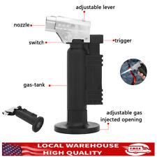 Butane Gas Burner Torch Lighter Gun Adjustable Flame Control Dental Lab Ignition