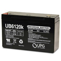 UPG Power-Sonic Battery PS-6100 SLA 6v 12ah PS6100 6 Volt NEW Rechargeable