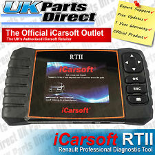 Renault Professional Diagnostic Scan Tool - iCarsoft RTII RT2 - 2 YEAR WARRANTY