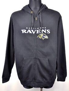 9cb694fa BALTIMORE RAVENS Mens XL Zip Up Hoodie American Football NFL Jumper ...