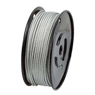 Vinyl-Coated Wire Rope Kit Everbilt 1//8 in x 30 ft