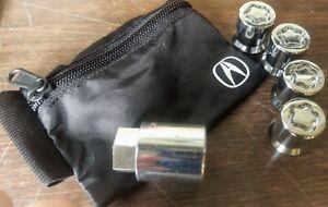 Genuine OEM Acura Wheel Locks Locking WTK MDX RLX TL ZDX - Acura mdx wheel lock key