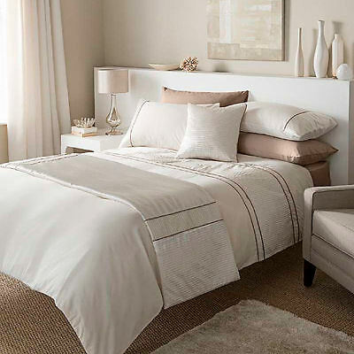Heat Seal Natural Cream Beige Ivory Pintuck 45x45 Square Luxury Cushion Cover