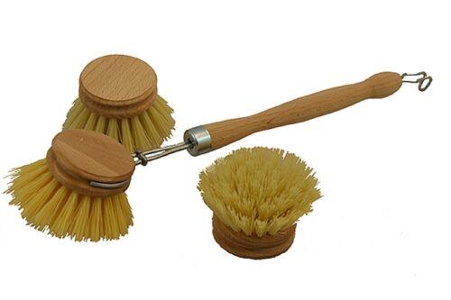 Spülbürste Abwaschbürste Geschirrbürste Bürste Abwasch Geschirr rund Holz Griff
