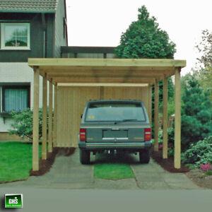 Carport 4x7 m, Holz-Bausatz 11/11 cm Stützen, Schneelast bis 200 Kg/qm möglich
