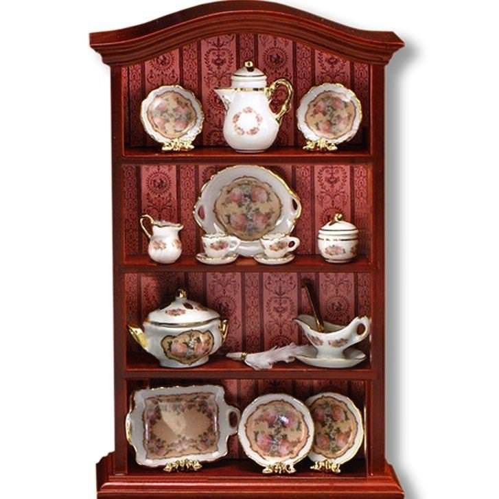 Dollhouse  Miniature SALE Classic Rose Dining Room Cabinet 1.715/1 Reutter