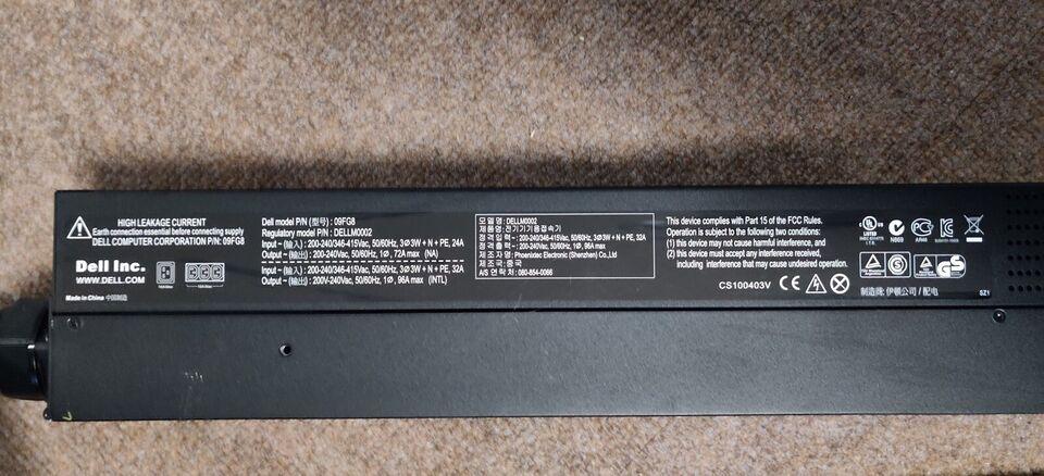 Strømforsyning, Dell Monitored PDU - 09FG8, God