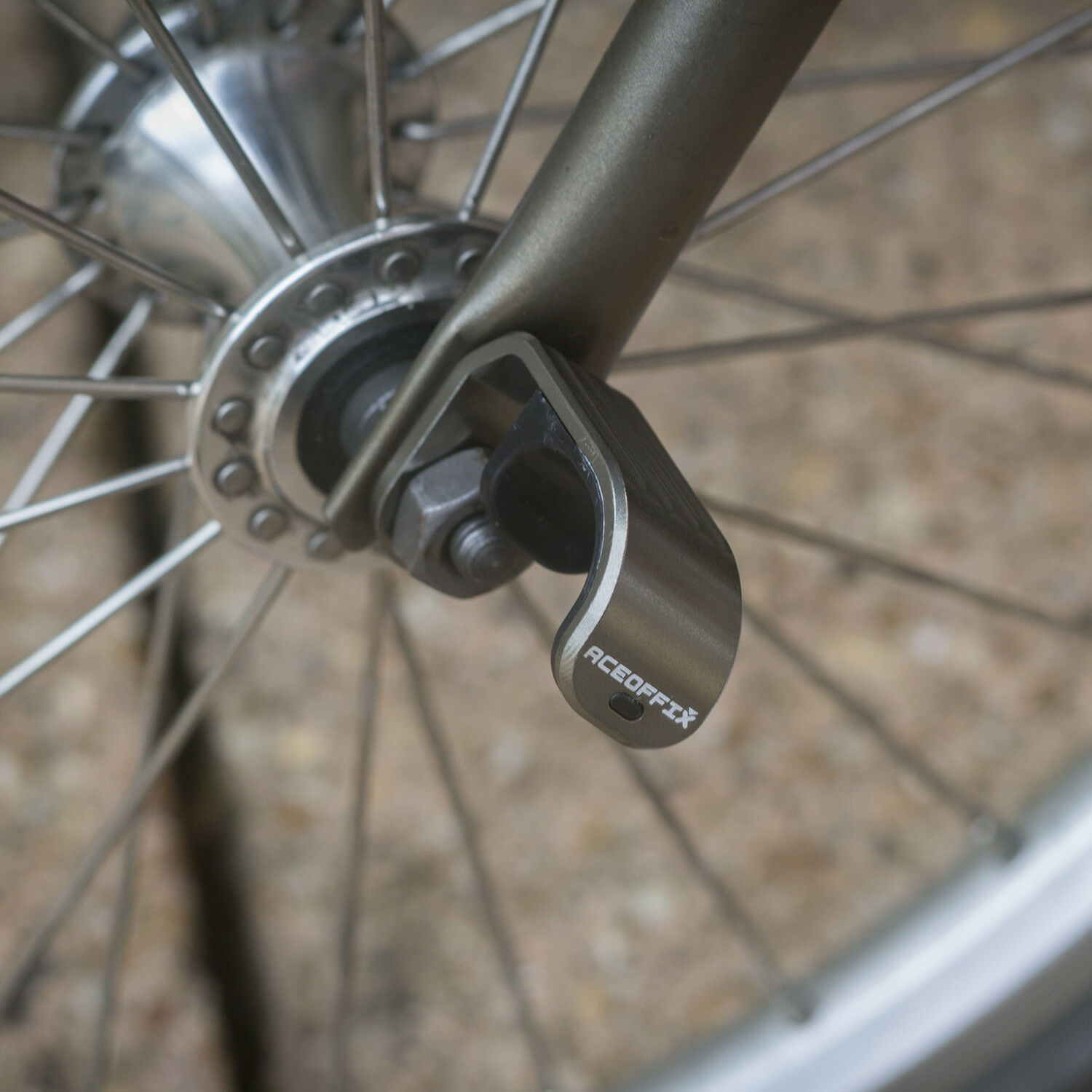 Aluminium  Hook For BROMPTON Lightweight in SPACE GREY  free delivery and returns