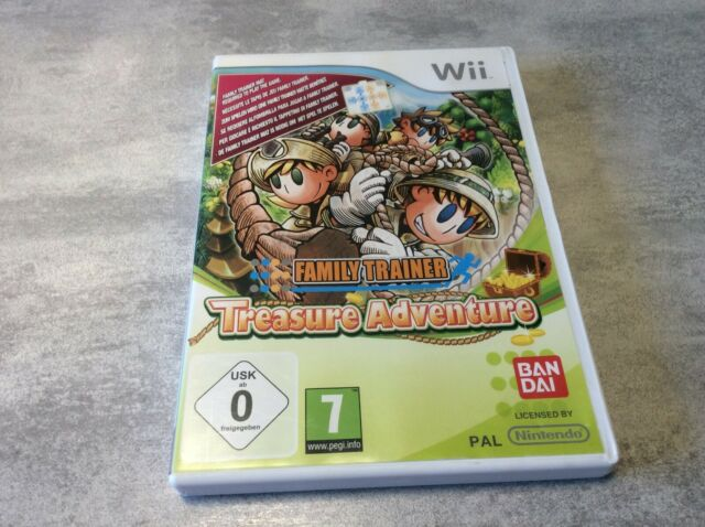 WII Family Trainer Treasure Adventure NINTENDO PAL FR COMPLET