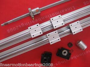 1-ballscrew-1605-850mm-BK-BF12-2-SBR20-800mm-rails-4-blocks-Nut-bracket