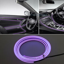 2M 12V EL Wire Purple Cold light Neon Lamp Atmosphere Unique Decor For Ford #