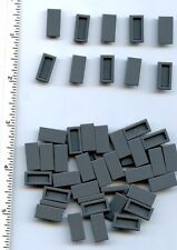 LEGO x 100 Trans-Black Tile 1 x 2 with Groove NEW