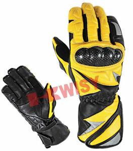 New Top Quality Motorbike Original Leather Motorcycle Gloves full Protected