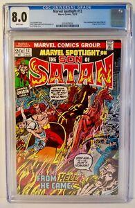 Marvel-Spotlight-Son-of-Satan-12-1973-CGC-8-0-Origin-Son-of-Satan-Herb-Trimpe