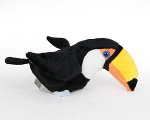 Stofftier-Tukan-Vogel-Plueschtier-Kuscheltier-Laenge-ca-21cm