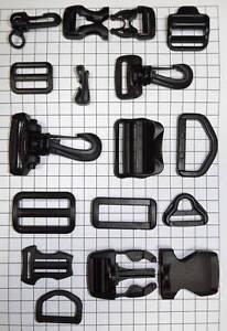 YKK-Webbing-Strap-Fittings-20-25-38-mm-Buckle-Adjuster-D-Ring-Clip-Bag-Plastic