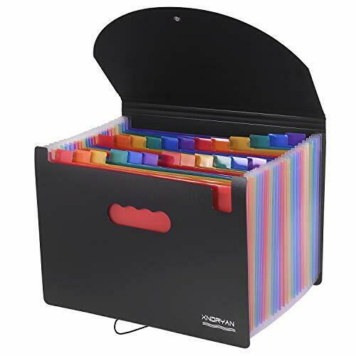 File Organisers Xndryan 24 Pockets Expanding File Folder A4 Size Accordion