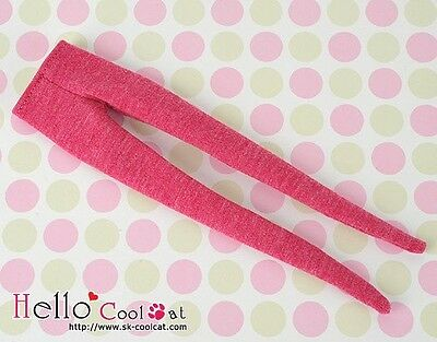 ☆╮Cool Cat╭☆【PP-159】Pullip Doll Pantyhose Tights Socks # Grey Mix Deep Pink