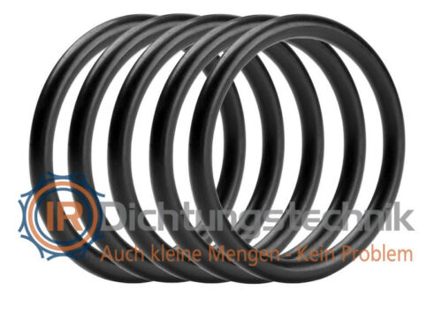 O-Ring Nullring Rundring 62,0 x 2,5 mm NBR 70 Shore A schwarz (5 St.)