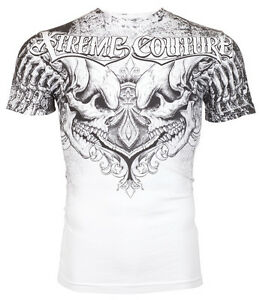 Xtreme-Couture-AFFLICTION-Mens-T-Shirt-LEGENDARY-Skulls-WHITE-Biker-MMA-40