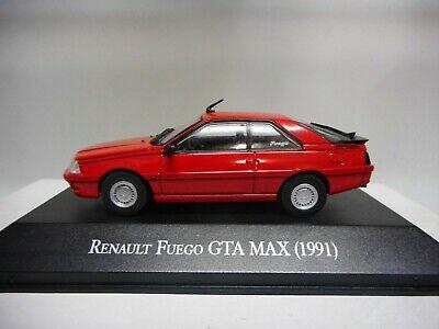 AQV1J Auto 1//43 Salvat Auto Inolvidables 80//90 Renault Fuego Gta Max 1991