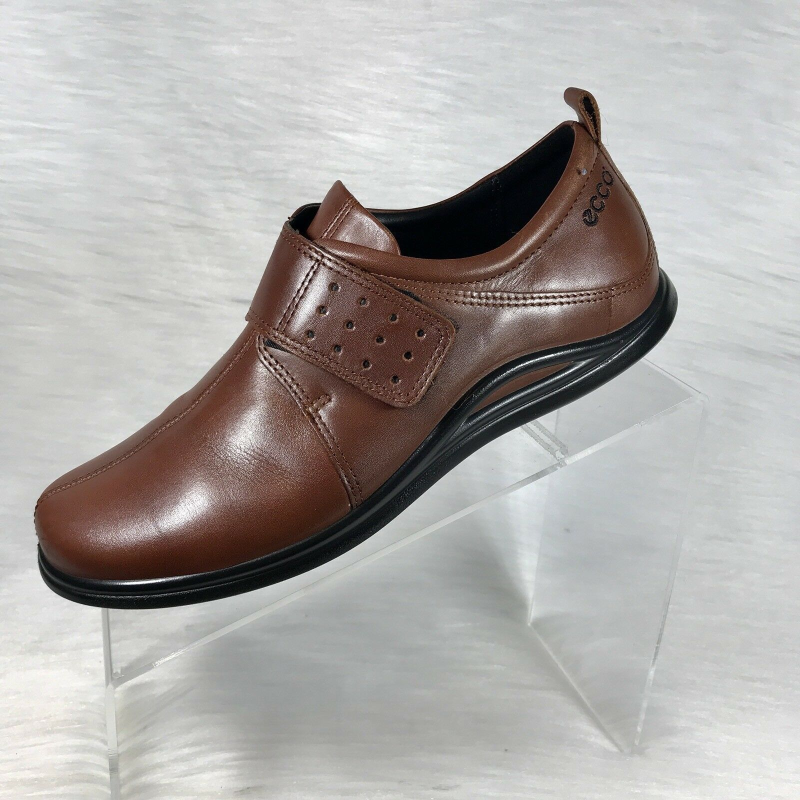 Ecco Donna's Loafers Brown Leather Slip on comfort shoes - Size 39 US 8 - shoes 8.5 7608e7