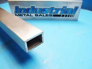 """2 Pieces 1.5/"""" X 3/"""" X 1//8/"""" X 60/"""" Length Rectangular Aluminum Tubing 6063-T52"""